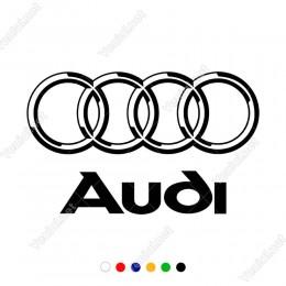 Audi Araba Araç Logosu Sticker Yapıştırma