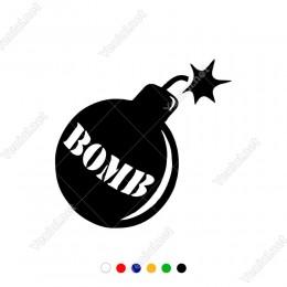 Bomb Yazılı Bomba Sticker Yapıştırma