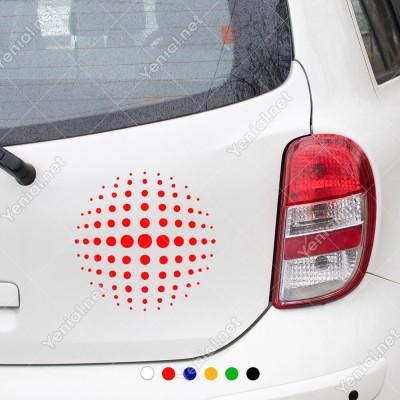 Büyükten Küçüğe Sıralanmış Noktalar Sticker Yapıştırması