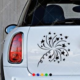 Büyükten Küçüğe Yıldızlar Duvar Sticker Yapıştırma