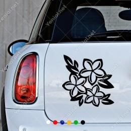 Çiçek Ve Yapraklar Duvar Modifiye Araba Sticker