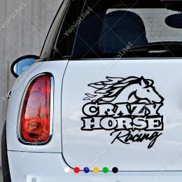Çılgın At Yarışı Yazısı Sticker Yapıştırma