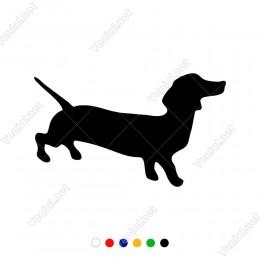 Dachshund Köpek Sticker Yapıştırma Etiket
