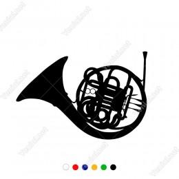 Detaylı Şekilde Müzik Aleti Sticker Yapıştırma Etiket