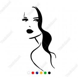 Dikkat Çekici Seksi Kadın Sticker Yapıştırma Etiket