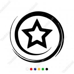 Dönen Sprialli Yıldız Araba Logosu Sticker Yapıştırma