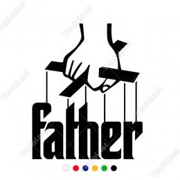 God Father Yazısı Sticker Çıkartma Yapıştırma