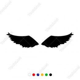 İki Kuş Kanadı Sticker Yapıştırması