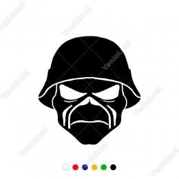 Iron Maiden Army Sticker Yapıştırma