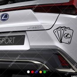İskambil Kağıtları Lexus Logosu Sticker Yapıştırma