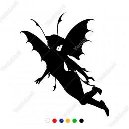 Kanatlı Kelebek Gibi Uçuşan Melek Kadın Sticker