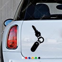 Kapı Kilidi Anahtarı ve Halkalı Anahtarlık Sticker Yapıştırma