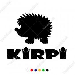 Kirpi Yazısı ve Sevimli Kirpi Yapıştırma Sticker