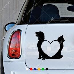 Köpek Kedi Ve Kalp Petshop İçin Sticker Yapıştırması