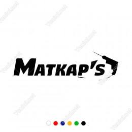 Matkap's Yazısı Araç ve Duvar İçin Sticker Yapıştırma