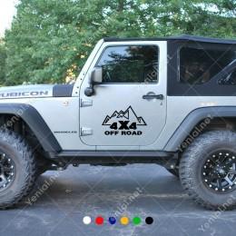 Mountain Dağ 4x4 Ofroad Yazısı Jeep Sticker Yapıştırma