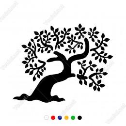 Nilüfer Çiçeği Ağacı Motifi Etiket Sticker Yapıştırma
