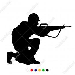 Nişan Alan Asker Araç Ve Duvar İçin Sticker Yapıştırma