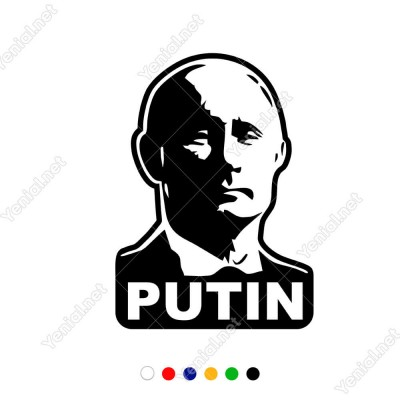 Ön Görünümlü Putin Sticker Yapıştırma