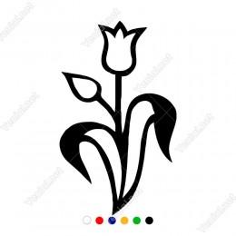 Osmanlı Lale Motifi Deseni Sticker Yapıştırma