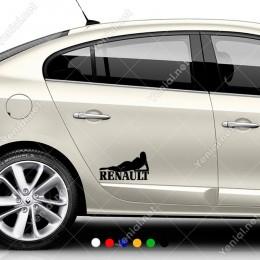 Renault Araba Sexy Lady Seksi Kadın Sticker