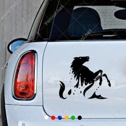 Şaha Kalkan At Sticker Yapıştırması Oto Araç ve Duvar İçin