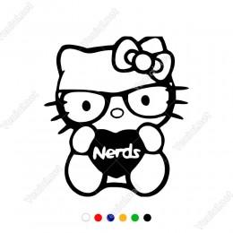 Sevimli Kurdelalı Hello Kitty Yapıştırma Sticker