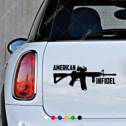 Silah Keleş ve American Infidel Sticker Yapıştırma