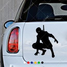Sırtında Kılıç Ninja Kaplumbağa Etiket Sticker Yapıştırma