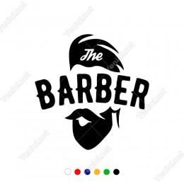 The Barber Berberler İçin Etiket Sticker Yapıştırma