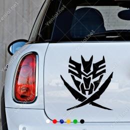Transformers Efektli Görünüm Etiket Oto Araç Sticker