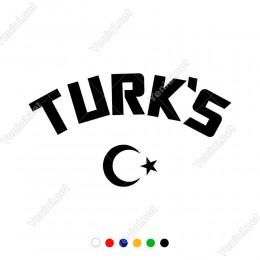 Turk's Yazısı Ay Yıldız Araç ve Duvar İçin Sticker Yapıştırma