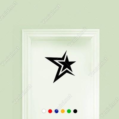 Yarım Yıldızın İçinde Var Olan Yıldız Efektli Sticker