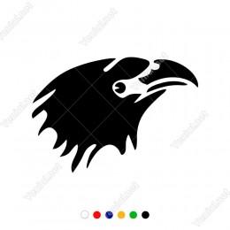 Yukarıya Doğru Bakan Sivri Gagalı Kartal Başı Sticker