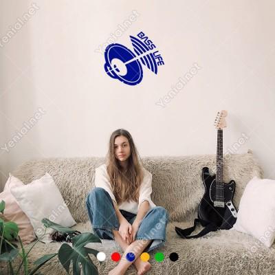Yüksek Sesli Hapörler ve Bass Life Yazısı Sticker Yapıştırma