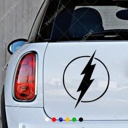 Yuvarlak İçinde Flash Şimşek İşareti Sticker