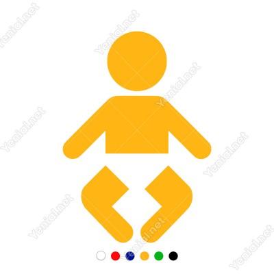 Altında Bez Olan Küçük Sevimli Bebek Sticker