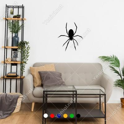 Aşağıya Doğru Yürüyen Giden Örümcek Sticker