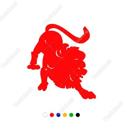 Aşağıya Yere Doğru Eğilen Aslan Stickerı