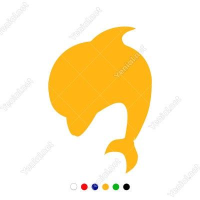 Atlayıp Geriye Dönen Yunus Balığı Sticker