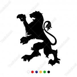Ayağa Kalkmış Kükreyen Aslan Aslan Sticker