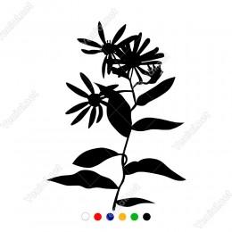 Bol Yapraklı Çiçek Papatya Sticker