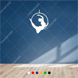 Demir Halkanın İçinde Dans Eden Dansçı 46x60 cm Duvar Sticker