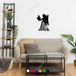 Elinde Güvercin Olan Kanatlı Melek Kadın Sticker
