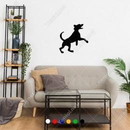 Havaya Atlayan Oynayan Köpek Yavrusu Sticker