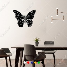 İnce Detaylı İşlenmiş Kelebek Butterfly 60x60 cm Duvar Sticker