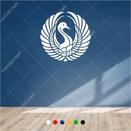 Kanatlarını Yana Doğru Açmış Tavuş Kuşu 60x60 cm Duvar Sticker