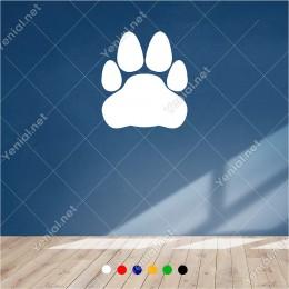 Kocaman Büyük Kedi Pati Ayak İzi 50x60 cm Duvar Sticker