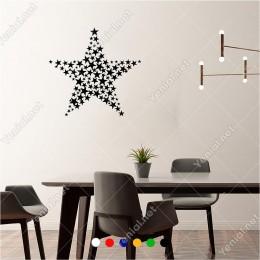 Küçüklü Büyüklü Oluşturulmuş Yıldız Şekli 60x60 cm Duvar Sticker