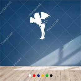 Kuyruklu Şeytan Victoria Secret Meleği 40x60 cm Duvar Sticker